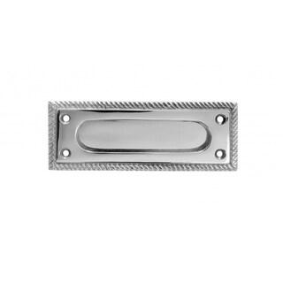 Solid Brass Sash Lift Georgian Rope Chrome Rectangular 5 Inches