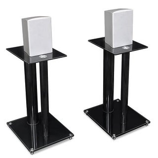 2 Satellite Speaker Stands for Surround Sound Home Theaters,