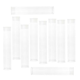 Beadsmith Clear Storage Tubes 3 Inches Long - For Seed Beads/Delicas/Findings (10 Tubes)
