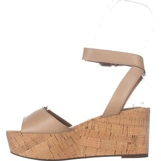 Coach Womens Becka Semi Matte Calf Leather Open Toe Casual Platform Sandals (More options available)