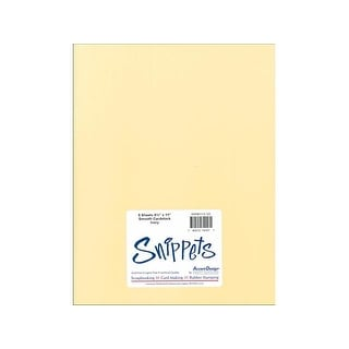 Snippets Smooth 8.5x11 5pc Ivory