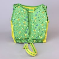 Kids Stuff Green and Yellow Fishes Swim Vest Medium/Large 33-55 lbs