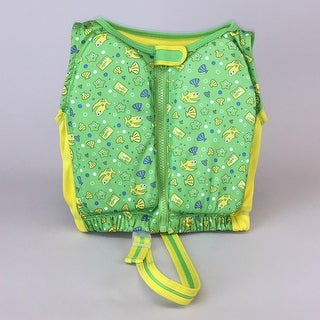 Kids Stuff Green and Yellow Fishes Swim Vest Small/Medium 20-33 lbs