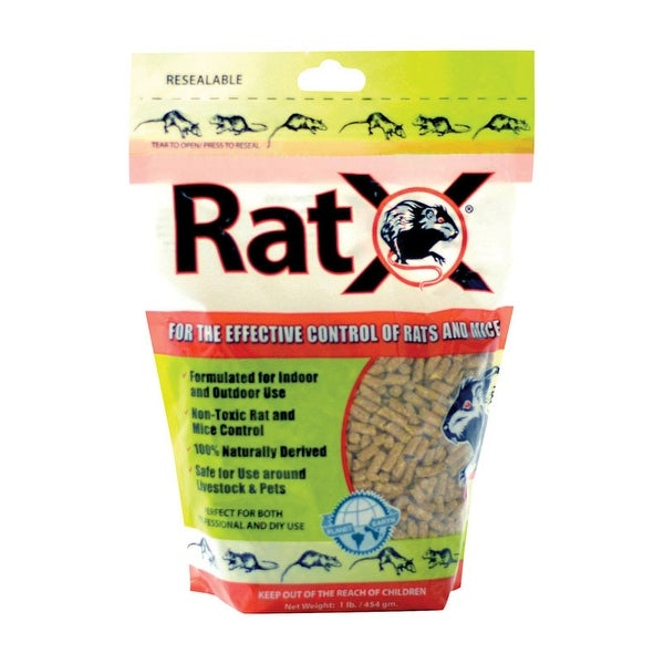 RatX 620100 Rodent Bait For Rats and Mice Granule, 8 oz.
