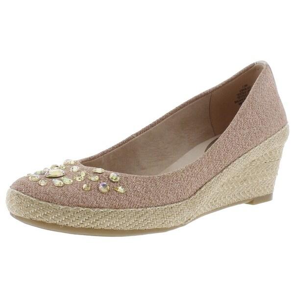 b62f9ae23fe1 Shop Easy Spirit Womens Eskalijo Wedge Heels Jeweled Espadrille - 7.5 medium  (b