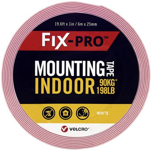 "Velcro(R) Brand Fix-Pro Indoor Mounting Tape 1""X19.5'-White, 198Lb - White"