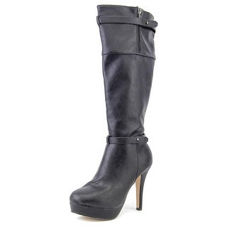 Madden Girl Nastyy Round Toe Synthetic Knee High Boot