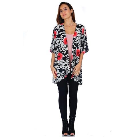 Simply Ravishing Women's Kimono Chiffon Cardigan (Size: Missy/Plus)