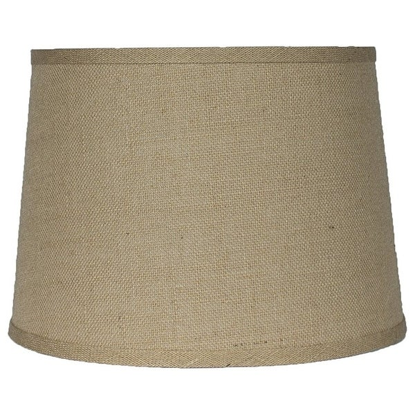 """French Drum Burlap Lampshade, 12"""" to 16"""" Bottom Size. Opens flyout."""