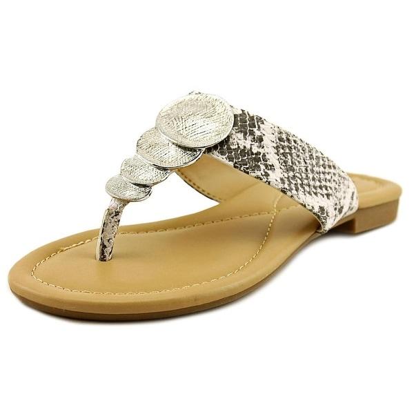 Alfani Harlquin Women Open Toe Synthetic Black Thong Sandal