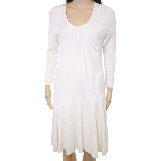Lauren by Ralph Lauren NEW White Ivory Women Size Large L Sweater Dress