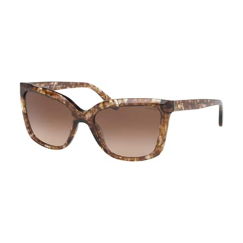 Coach HC8261 556274 56 Brown Tortoise Woman Square Sunglasses