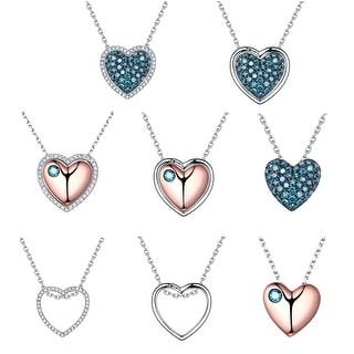 Prism Jewel 0 55Ct SI1 Blue Diamond With G H SI1 Natural Diamond Multi Piece Valentine Pendent