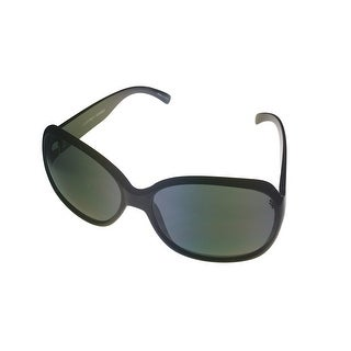 Ellen Tracy Womens Sunglass 519 2 Black Modified Rectangle, Gradient Lens - Medium