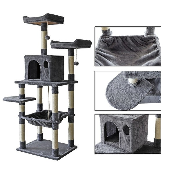 confote 63'' Multi-Level Cat Tree Activity Tower Condo. Opens flyout.