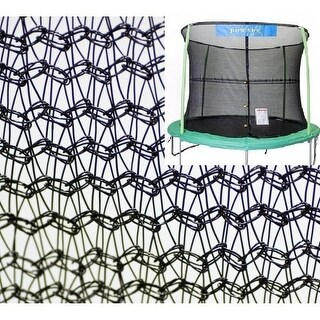 Bazoongi NET14-JP4-7JK 14 ft. Enclosure Netting with 4 Poles & 7 in. Springs with Jump King Logo