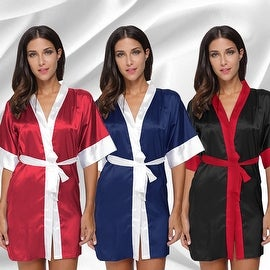 Bridesmaid Satin Silk Pajamas Kimono Bathrobe Wedding Womens Sleepwear Lingerie