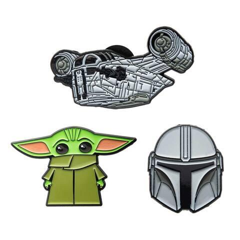 Star Wars The Mandalorian 3 Piece Enamel Pin Set - Green