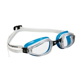 Aqua Sphere Women's K-180 Clear Lens Competition Swim Goggles - White/Blue
