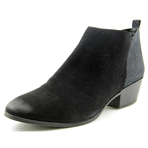 Style & Co Wess Women Round Toe Synthetic Black Bootie
