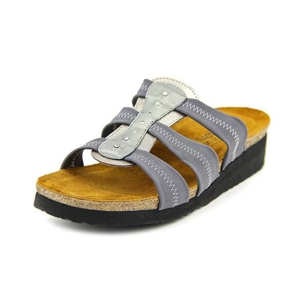 Naot Brooke Women Open Toe Canvas Gray Platform Sandal