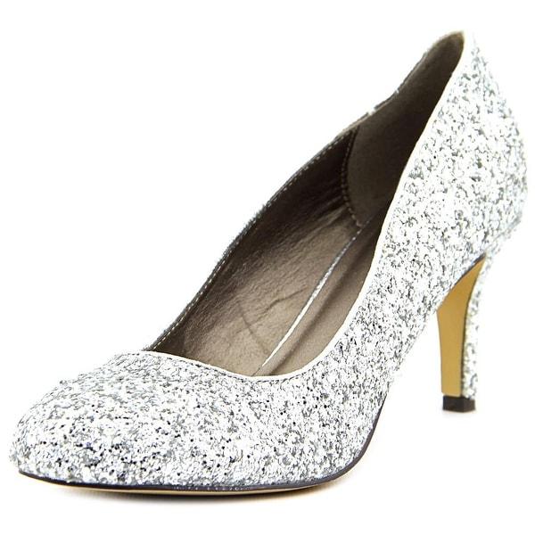 Michael Antonio Finnea Women W Round Toe Synthetic Silver Heels