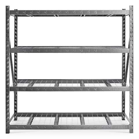 "Gladiator GarageWorks 90"" x 90"" Heavy Duty Mega Rack with Four Adjustable Shelves"