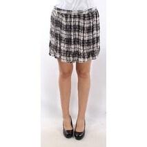 AMERICAN RAG Womens 1627 Black;White Plaid Accordion Pleat Skirt Juniors L B+B