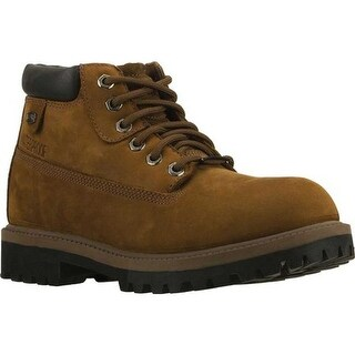Skechers Men's Sergeants Verdict Rugged Ankle Boot Dark Brown Waterproof Crazyhorse Leather