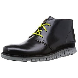 Cole Haan Mens Zerogrand Chukka Boots Faux Leather Solid - 11.5 medium (d)