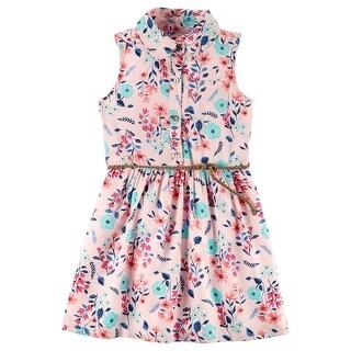 Carter's Big Girls' Floral Shirt Dress, 8 Kids