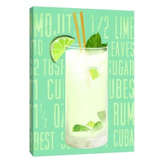 "PTM Images 9-105724  PTM Canvas Collection 10"" x 8"" - ""Mojito (Vertical)"" Giclee Liquor & Cocktails Art Print on Canvas"