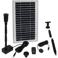 Sunnydaze 105 GPH Solar Pump Kit - Battery Pack - 55-Inch Lift - Remote Control
