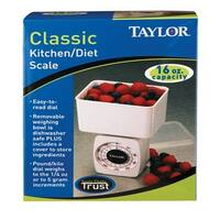 Taylor 37204014T Diet Scale with Bowl & Lid, 16 Oz