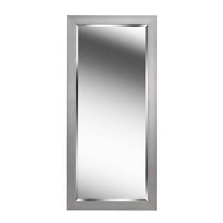 """Kenroy Home 60359  Drake 63.19"""" x 29.19"""" Rectangular Beveled Wall Mounted Mirror - Brushed Steel"""