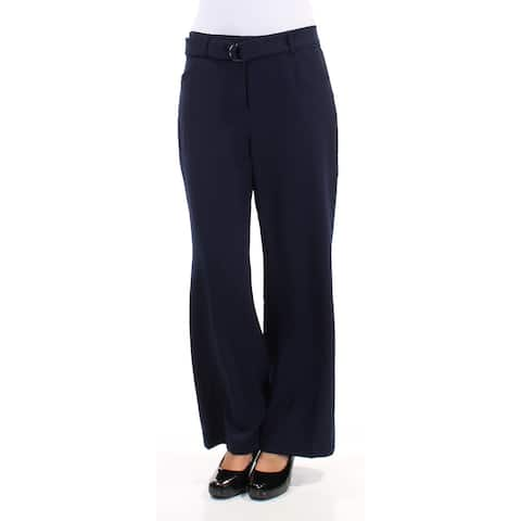 TAHARI Womens Navy Zippered Wear To Work Pants Size 0