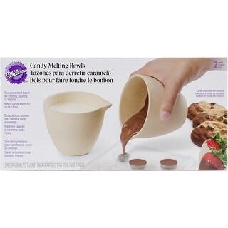 "Ceramic Candy Melting Cups & Bowls-4""X3.5"" 2/Pkg - 4""x3.5"" 2/pkg"