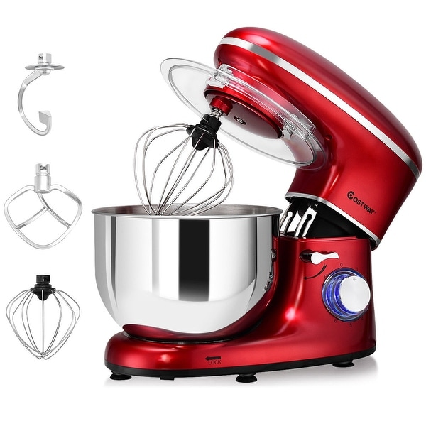 Shop Costway Electric Food Stand Mixer 6 Speed 6 3qt 660w