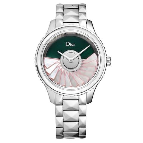 Christian Dior Women's CD153B11M002 'Grand Bal' Green Diamond Dial Swiss Automatic Watch Set
