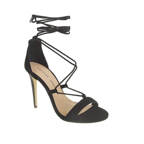 Chinese Laundry Womens Jambi Heeled Sandal, Black, Size 8.5