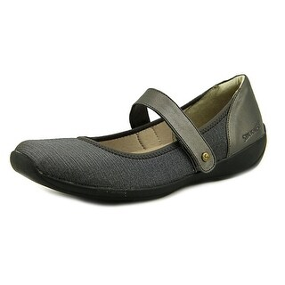 Stretchies Margaret II Women W Round Toe Synthetic Gray Mary Janes