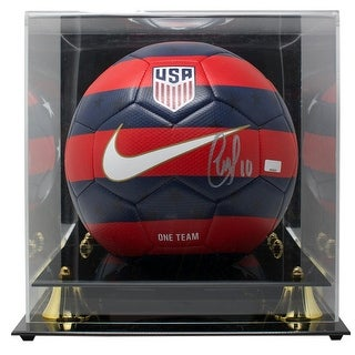 Christian Pulisic Signed Nike 2018 Red Blue Soccer Ball Panini W Acrylic Case