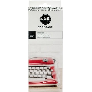 We R Typecast Typewriter Cover-Clear