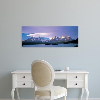 Easy Art Prints Panoramic Image 'Clouds, Towers Of Paine, Torres Del Paine National Park, Patagonia, Chile' Canvas Art