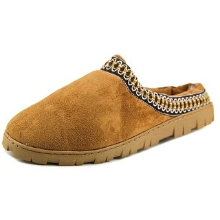 Goldtoe Andrew Men Round Toe Canvas Tan Slipper