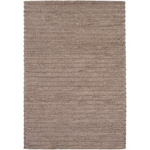 Strick & Bolton Carr Handwoven Viscose & Wool Area Rug