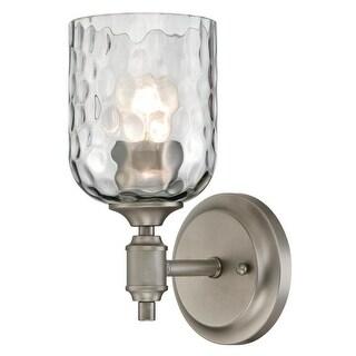 "Westinghouse 6326600 Basset Single Light 4-15/16"" Wide Bathroom Sconce - dark pewter"