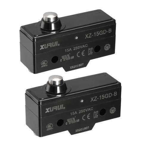 XURUI Authorized 2PCS Short Reed Snap Button Lever Micro Limit Switch - XZ-15GD-B 2PCS