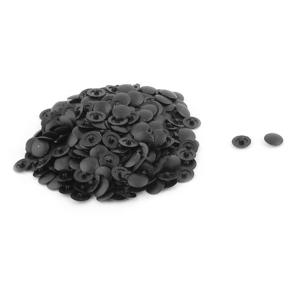 Incredible 200Pcs 12Mm Dia Black Plastic Round Furniture Fittings Phillips Screw Caps Cover Alphanode Cool Chair Designs And Ideas Alphanodeonline