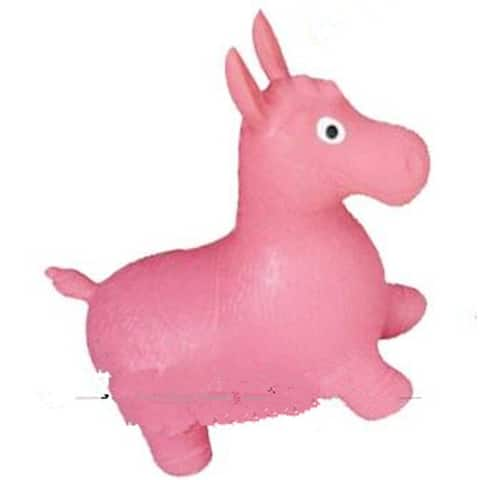 Little Fawn Hopper Ride-on Bouncer Toy Inflatable Toy Toddler Kids Chrismas gift - Pink